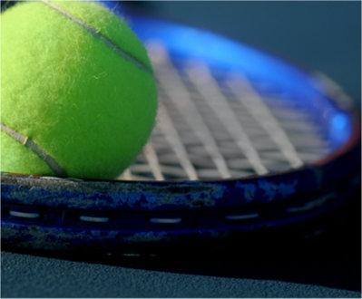 Tennis Racquet close up