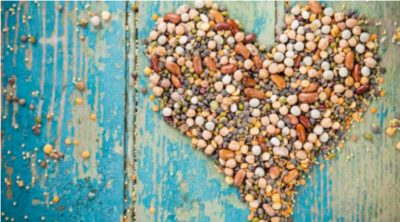 Legumes in shape of heart