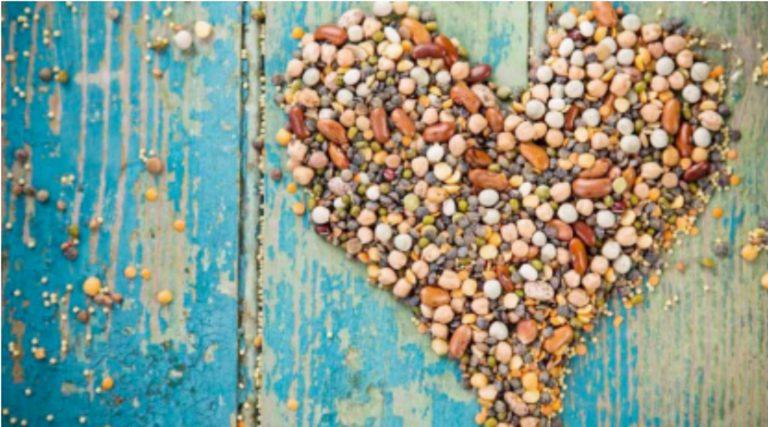 Legumes in shape of heart