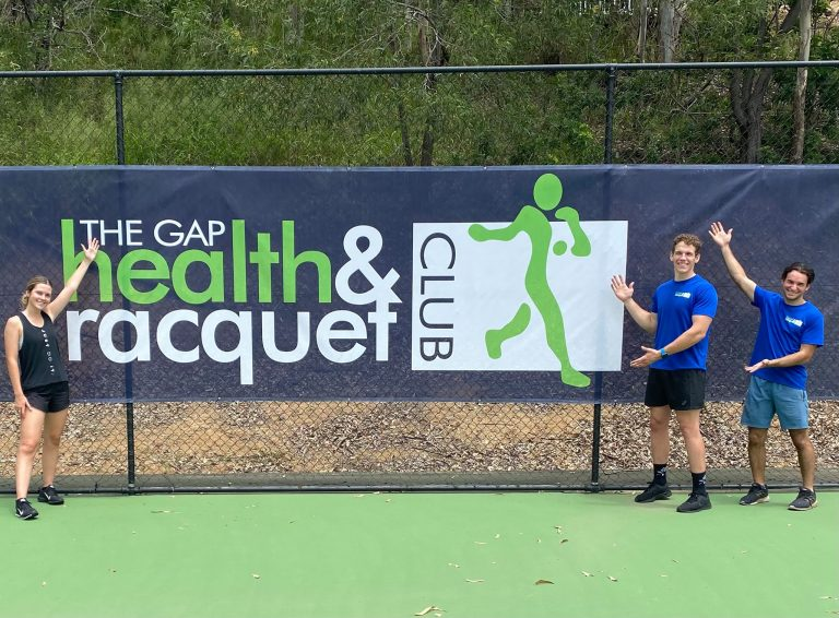 The Gap Health and Racquet Club sign